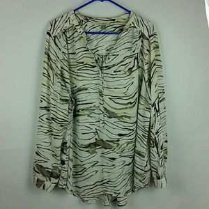 Roz & Ali printed blouse 1X
